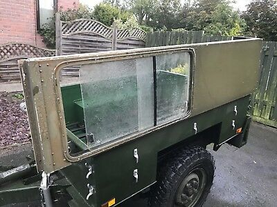 Land Rover Defender Roof ( and sides with slidy windows) Ex MOD 109