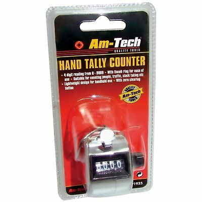 Brand New Digital Am-Tech Hand Tally Counter Chrome