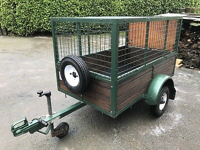 Cage Car Trailer approx. 5ft x 3ft. Made by Blue Line.