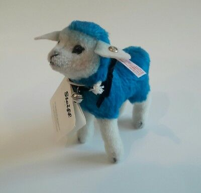 Steiff Blue Lamb Designers Choice Candy Sheep 2015 Mohair 021626 New (Old Stock)