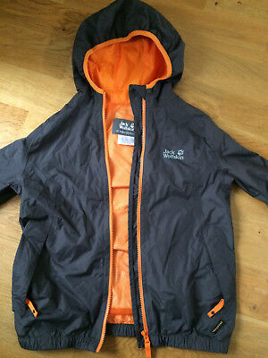 Jack Wolfskin Boys Showerproof Jacket Brown Orange Age 11-12