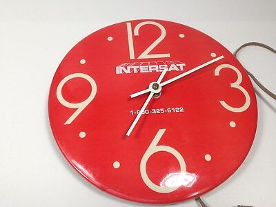 "Vintage Intersat 9"" Electric Wall Clock"