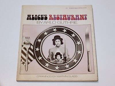 Arlo Guthrie Alice's Restaurant Grove Press Illustrate Softcover 1968 Storybook