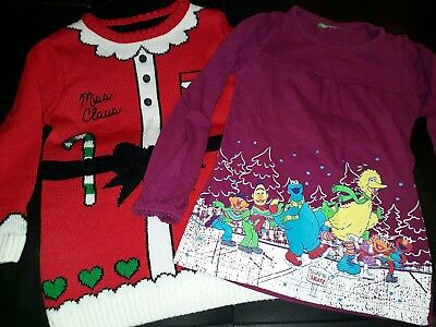 girl Christmas jumper and top size 3-4 years