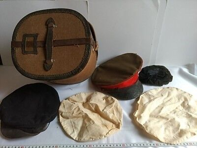 WWII Japanese Military Imperial Soldier's Hat Cap Battle Army Uniform Boxed-P-