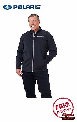 Polaris Men's Fleece Mid Layer Jacket Black Gray Rzr Rmk Ace New Free Shipping