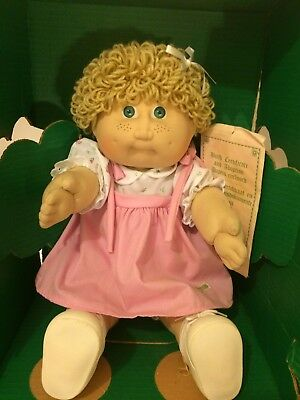 Cabbage Patch Doll Cpk Jesmar Spain Tan Hair Green Eyes New Old Stock Freckles