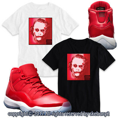 0abab76400131d NEW CUSTOM T SHIRT AIR JORDAN 11 WIN LIKE 96 matching TEE Bulls red JD 11