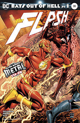 Flash #33 (2017) 1St Printing Dc Universe Rebirth Metal Tie-In