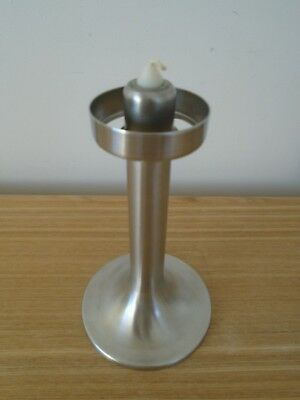 Robert Welch Old Hall Stainless Steel Candlestick c1960's