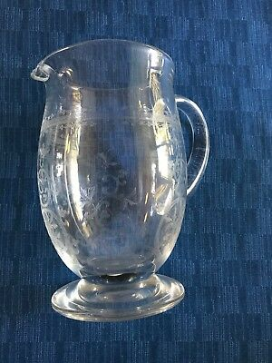 retired baccarat antique water pitcher -Lafayette pattern