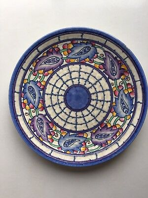 Charlotte Rhead Large Charger Plate Persian Leaf