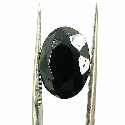8.10 Ct Natural Black Spinel Loose Gemstone Oval Cut Stone - 15185