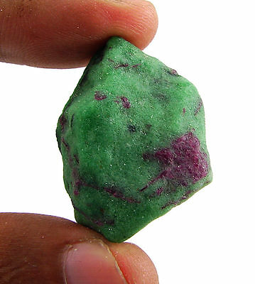 97.50 Ct Natural Ruby Zoisite / Anyolite Loose Gemstone Rough Specimen - 10084
