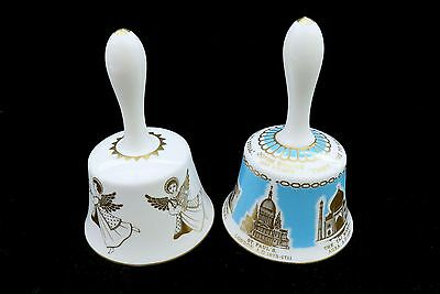 Set Of 2 Hammersley Fine Bone China Bells Angels & Buildings Around The World