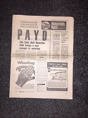 Daily Mail Motorists Club 1971 Launch Newspaper Supplement