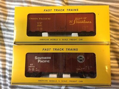 American Models S Scale Boxcars