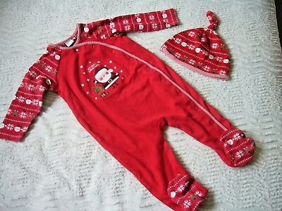 Boots Miniclub Unisex  'my First Christmas' Sleepsuit & Hat 9-12 Months