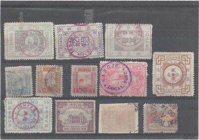 Early Chinese Ports Stamps. Mixed condition.