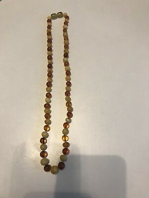 Antik Bernsteinkette   Real Amber Necklace Top Stück
