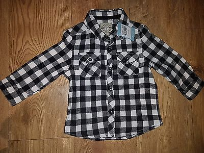 Baby Boy's White/Black Shirt 9-12 months NEW