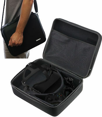 Navitech Black Hard Case For The Oculus Rift Virtual Reality Heads VR-CASE NUOVO