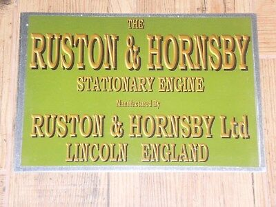 1 x RUSTON & HORNSBY  DISPLAY BOARD STATIONARY ENGINE