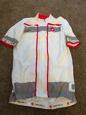 Castelli white short sleeved jersey small NEW (tags removed - never worn)Genuine