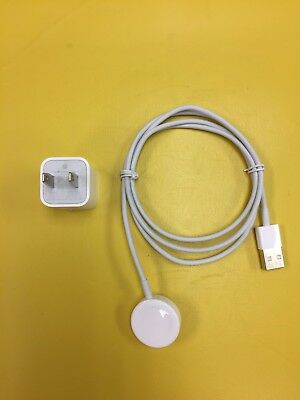 Genuine Apple Watch OEM Magnetic USB Charging Cable Authentic + Wall Block
