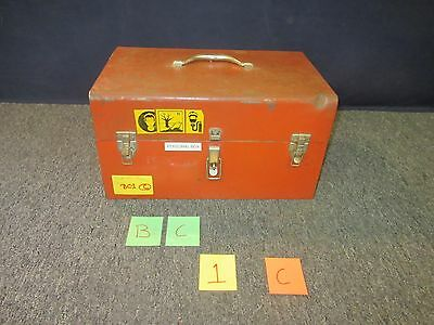 Vintage Stack-On Cantilever  Red Metal Toolbox Shop Machine Military Used Bc1C