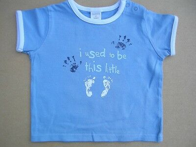 LOOK *NEXT* BLUE T SHIRT / TOP for 3-6mths BABY BOY