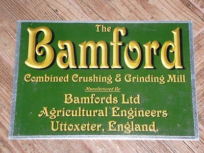 1 x BAMFORD COMBINED CRUSHING & GRINDING MILL DISPLAY BOARD STATIONARY ENGINE