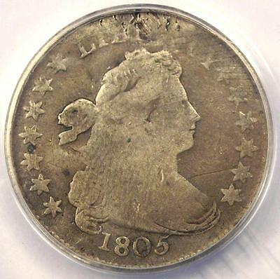 1805 Draped Bust Dime 10C Coin JR-2 - Certified ANACS VG8 Details - Rare Date!