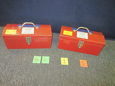"2 Gage Bilt 16"" Red Metal Toolbox Shop Machine Rivet Kit Military Used Bc1S"