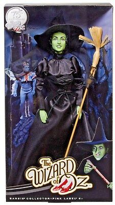 Wicked Witch Of The West Barbie Doll Wizard Of Oz 75th Anniversary Mattel NIB