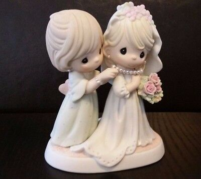 NIB Precious Moments Beautiful And Blushing, My Baby's Now A Bride, 117802