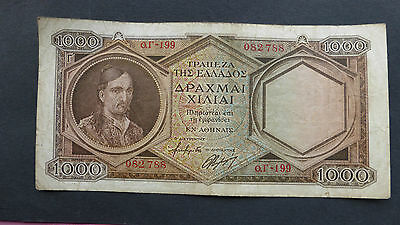 Greece 1000 drachmas banknote 1947 4th issue