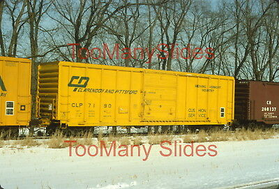 Original slide- CLP Clarendon & Pittsford Boxcar #7190 When NEW!