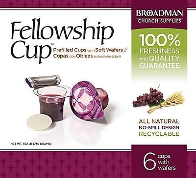 Fellowship Cup Box of 6 - Pre-filled Communion Bread & Cup