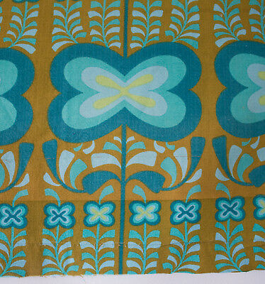 vintage 1960s Heals Indian Summer Jyoti Bhomik abstract floral cotton barkcloth