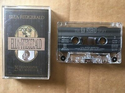 The Ella Fitzgerald Story -25 Phonographic Memories  Music Cassette tape