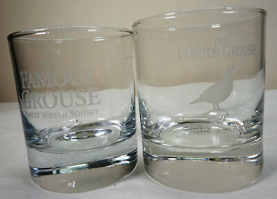 2 x The Famous Grouse Scotch Whisky - Glasses - Rare