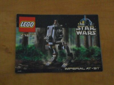 LEGO Star Wars 7127 Imperial AT-ST Walker Instructions Only 2001 NM Vintage