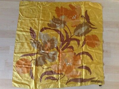 "Vintage All Silk Christian Dior Scarf Made In Italy 30"" Square Fall Decor"