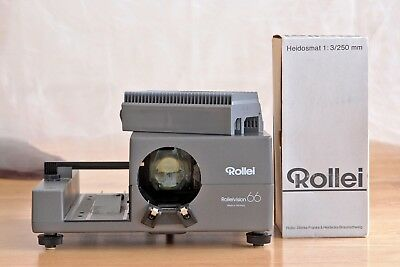 Rolleivision 66 AF medium format slide projector, Rollei 77 magazin, lens 250mm