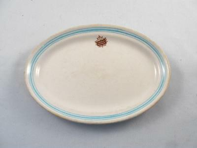 Vintage Canadian National Hotel Ware Small Oval Plate Platter Sovereign Potters