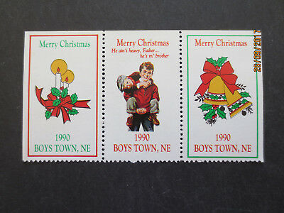 No--1---1990  BOYS TOWN  CHRISTMAS  STAMP  ISSUES  --GREAT  ISSUE