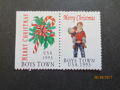 No--1---1993  BOYS TOWN  CHRISTMAS  STAMP  ISSUES  --GREAT  ISSUE