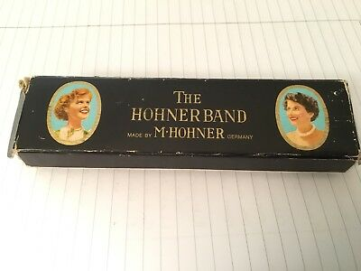 Vintage The Higher Band Harmonica In Original Box Including Paper 7330/40 M2 G