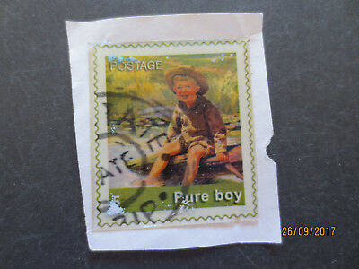 No--1--PURE  BOY  POSTAGE  PLASTIC  CUT  OUT   STAMP  ISSUE --GREAT  ISSUE